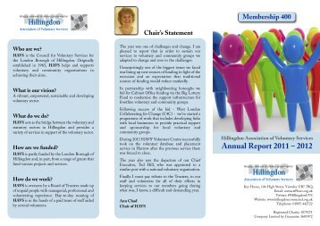 Annual Report 2011 – 2012 - Hillingdon Association of Voluntary ...