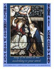 December 18 - St. Pius X Catholic Community