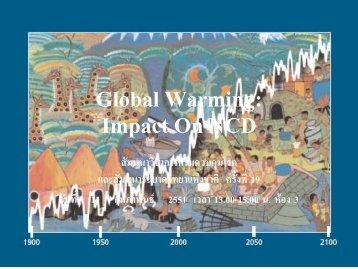 Global Warming: Impact On NCD