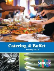 Catering & Buffet - Singer Equipment Company