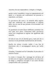 Consulta il discorso del Presidente Unindustria Treviso Andrea Tomat