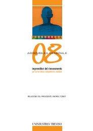 Relazione del Presidente Andrea Tomat - TrevisoSystem-online