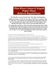 Flint River Canoe Poker Run - Rules & Regs.pages