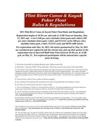 Poker river rules