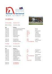 Zeitplan SM 2013 Programmheft