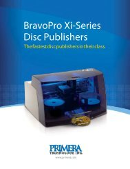 BravoPro Xi-Series Disc Publishers - Primera Asia Pacific