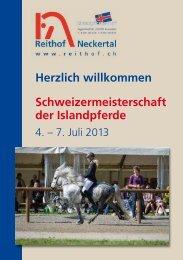Programmheft/Starterlisten 2013 - Reithof Neckertal