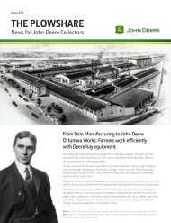 The Plowshare — News for John Deere Collectors