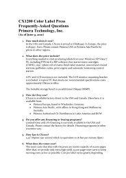 to read FAQ's on the CX1200 Digital Label Press - Primera Asia Pacific
