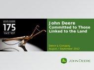 7 August 2012 - John Deere