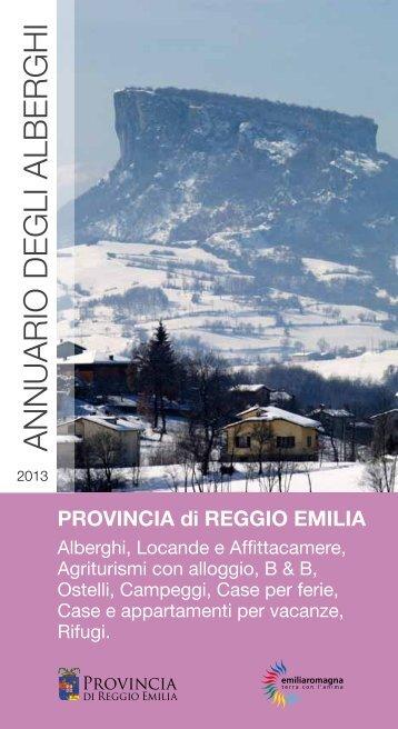 ANNUARIO DEGLI ALBERGHI - Turismo - Provincia di Reggio Emilia