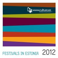 FESTIVALS IN ESTONIA 2012 - Loov Eesti