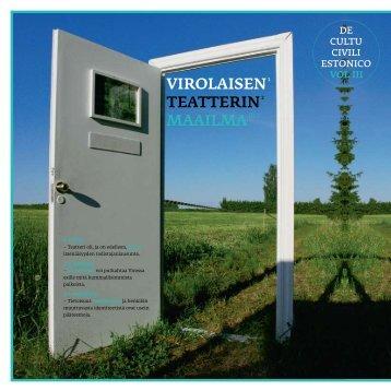 vIRolAISEN 1 TEATTERIN 2 MAAIlMA III/3 - Eesti Instituut