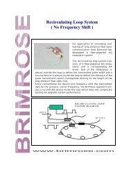 Recirculating Loop System - Brimrose Corporation of America