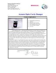 Acousto Optic Cavity Dumper - Brimrose Corporation of America