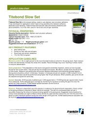 Titebond Slow Set - Franklin Adhesives and Polymers