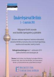 Emakeelepäevad Berliinis - Eesti Instituut