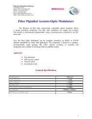 Fiber Pigtailed Acousto-Optic Modulators - Brimrose Corporation of ...
