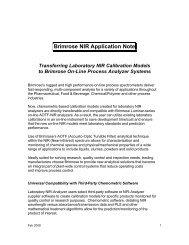 Brimrose NIR Application Note - Brimrose Corporation of America