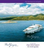 ship information & travel guide - Paul Gauguin Cruises