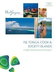 Fiji, TONgA, COOK & SOCiETy iSlANdS