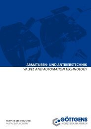 armaturen- und antriebstechnik valves and automation technology