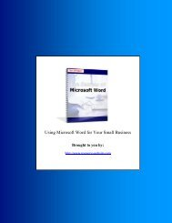 Outline Microsoft Word Secrets
