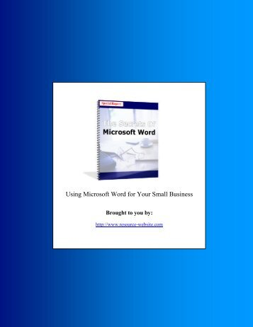 Outline Microsoft Word Secrets