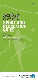 SPORT AND RECREATION GUIDE - Christchurch City Council