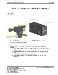 VA310 for camera system quick setup guide - Brimrose Corporation ...