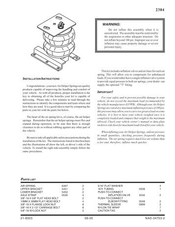 Installation Instruction - Firestone
