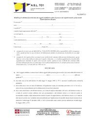 ALLEGATO 2 Modello per le dichiarazioni rilasciate dai ... - ASL TO 1