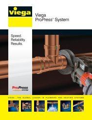 Viega ProPress® System - JO Galloup Company