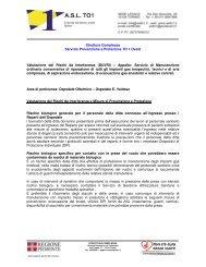 Struttura Complessa Servizio Prevenzione e Protezione ... - ASL TO 1