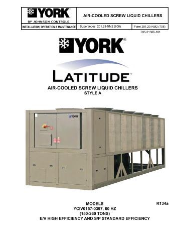 pdf-air-cooled--liquid-chillers-johnson-controls Ycas Chiller Wiring Diagram on