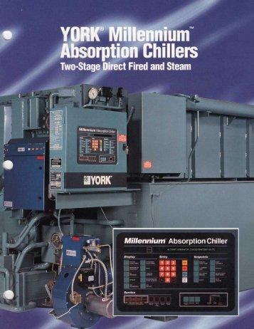 Catálogo Comercial - Chiller YORK® Absorção ... - Johnson Controls