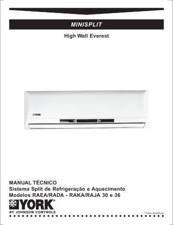 york air conditioner service manual