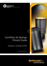 Contitech Air Springs Fitment Guide 2008/2009