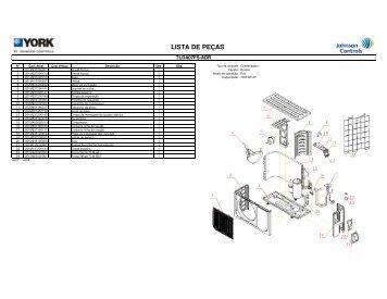 Lista de Peças / Vistas Explodidas - High Wall ... - Johnson Controls