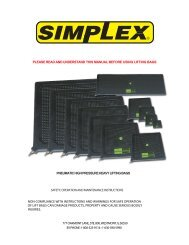 please read and understand this manual before using ... - Simplex