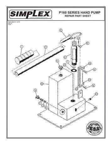 P160 SERIES HAND PUMP - Simplex