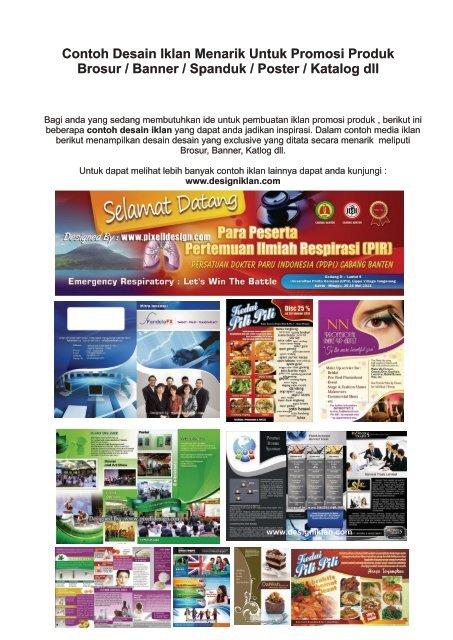 Contoh Iklan Brosur Banner Katalog Desain Menarik
