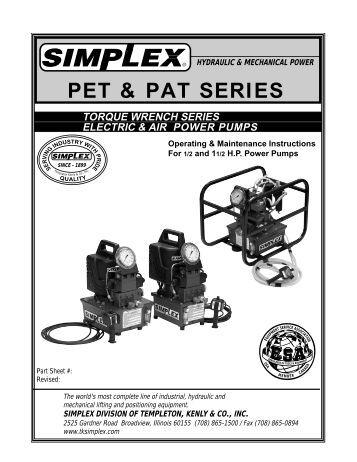 G5 Series Torque Power Pump Simplex