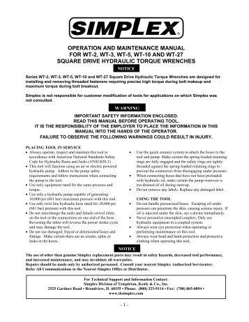 Simplex 4004r operation manual