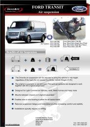 FORD TRANSIT Air suspension