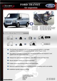 FORD TRANSIT Air suspension
