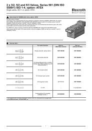 2 x 3/2, 5/2 and 5/3 Valves, Series 581 (DIN ISO ... - Bosch Rexroth