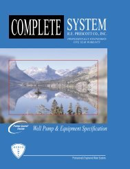 Complete Pump System Guide - RE Prescott Company