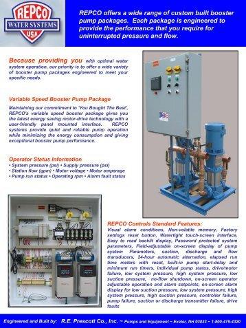 Repco Pump Booster Packages - RE Prescott Company