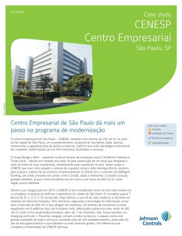 CENESP Centro Empresarial - Johnson Controls